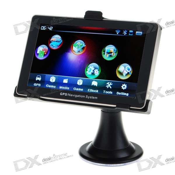 5.3 LCD 396MHz Windows CE .NET 5.0 Core GPS Navigator w/FM Transmitter (2GB/Maps)