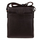 HRLONSI 25038 Fashion Head Layer Cowhide High-Grade Men's Magnetic Cover Business Bag - Coffee