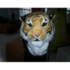 Cool Tiger Style Faux Suede Backpack - Yellow + Black