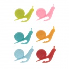 Creative Cute Snail Style Wineglass Label - Multicolored (6 PCS)