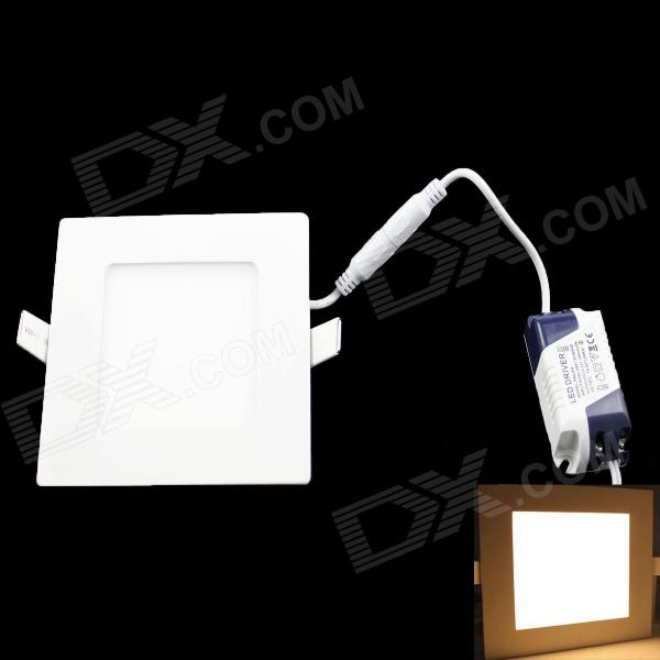 Square 4W 300lm 3000K 20 x SMD 3528 LED Warm White Light Ceiling Lamp w/ Driver - (AC 85~265V) kinfire square shaped 15w 1320lm 75 smd 3528 led white light ceiling lamp w driver ac 85 265v