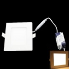 Square 4W 300lm 3000K 20 x SMD 3528 LED Warm Lámpara de techo blanco w / Driver - (AC 85 ~ 265V)