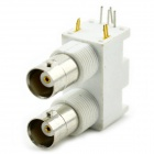 MaiTech Double-row BNC Female White Plastic Socket - White