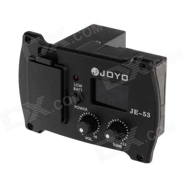 Joyo JE-53 New Guitar Preamp EQ Tuner Pickup Equalizer - Black (1 x 6F22) 2pcs hrb rc lipo 3s battery 11 1v 3000mah 35c max 70c drone akku for rc bateria helicopter airplane car boat quadcopter uav fpv