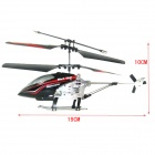 Shockproof 2-CH Mini R/C Helicopter w/ IR Remote Control - Black + Red + Silver (6 x AA)