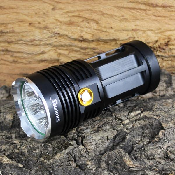 KINFIRE K700S 7-LED 3500lm 3-Mode White Flashlight - Black (4 x 18650) kinfire k40x 4 led 2000lm 3 mode white flashlight gray 4 x 18650