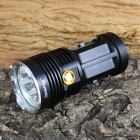 KINFIRE K700S 7 x CREE XM-L L2 3500lm 3-Mode White Flashlight - Black (4 x 18650)
