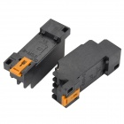 PYF08A 8A Plastic + Components Relay Bases - Black (2 PCS)