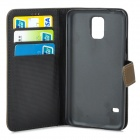 IKKI Protective Flip-Open Case for Samsung Galaxy S5 - Brown