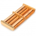 495 Wood 5-Row Vibrating Rolling Feet Massager - Beige
