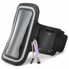Outdoor Sports Neoprene Armbandw/ Stylus for Samsung Galaxy S3 / S4 / S5 - Black + Grey