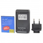 "YI-YI  ""2850mAh"" Li-ion Battery + USB Charger + EU Plug Adapter for Samsung Galaxy S3 Mini / i8190"