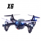 X6 2.4G 4-CH Fernbedienung Quadcopter w / 0.3MP Kamera / Light - Schwarz + Grün