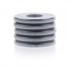 Strong Round Hole NdFeB Magnet - Silver (5 PCS / 25 x 3mm)