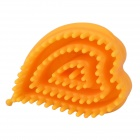 Chest Breast Care Plastic Massager Brush - Yellow