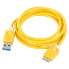 Micro USB 3.0 9pin Charging / Data Cable for Samsung Galaxy Note 3 - Yellow + White (150cm)