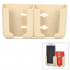 090 PVC Multifunction Adjustable Holder for Cellphone / GPS + More - Beige