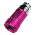 Zhishunjia Mini Car Charger Powered Rechargeable  6500K 60-Lumen  Flashlight - Deep Pink (DC 12V)
