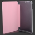 Manleybird 002 Patterned Flip-open PU + Plastic Case w/ Holder + Auto Sleep for IPAD AIR - White