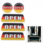03 Germany Flag Pattern Reflective Car Door / Trunk Sticker - White + Black + Multicolored (6 PCS)
