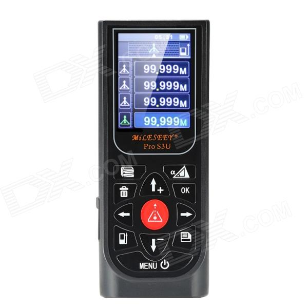 MileSeey S3U Handheld Laser Distance Meter Rangefinder Measurement Tape - Black