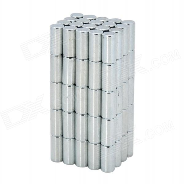 XL-001 8 x 4mm Cylinder Shaped Magnet - Silver (100 PCS)