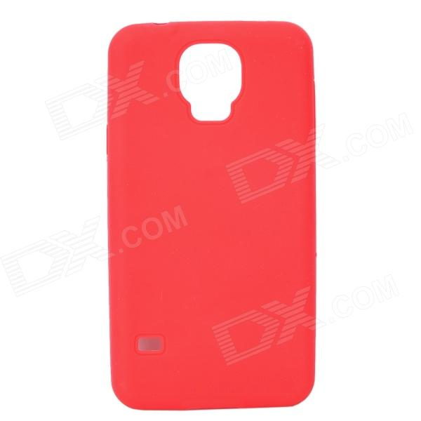 Protective Silicone Back Case for Samsung Galaxy S5 i9600 - Red sunshine sports velcro protective arm bag for samsung galaxy s5 i9600 red black