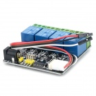 030908 Serial Port TTL 4-CH Relay Controler Module w/ Protective IC - Black + Blue + Green
