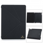 Manleybird 001 Flip-open PU + Plastic Case w/ Holder + Auto Sleep for IPAD AIR - Black