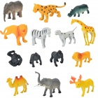 T3042 Kid's Plastic Animal Zoo Toy Set - Multicolored