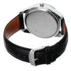 Men's Stylish Analog Quartz Wristwatch w/ Calendar - Black + Silver (1 x 377)