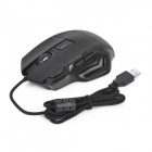 DX USB original 2.0 ató con alambre LED 800/1200/1600 / 1800dpi Gaming Mouse - Negro