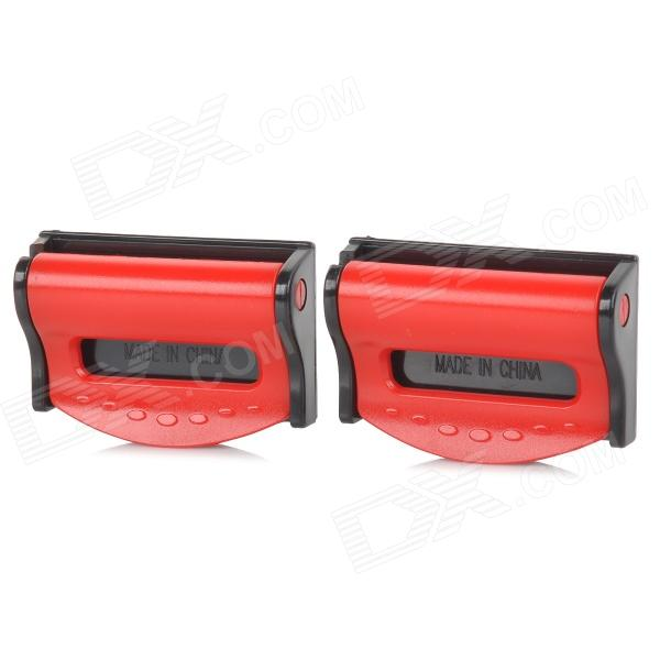 020 Universal Plastic Car Safety Belt Clips - Black + Red (2 PCS)
