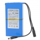 DC-1298A 12.6V 4500mAh Rechargeable Li-ion Battery w/ Adapter - Bluish Grey + Black