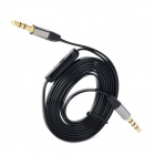 3.5mm Male to Male Earphone Connection Cable w/ MIC - Black (120cm)