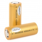 LetterFire 3.7V 3000mAh Rechargeable Li-ion Batteries - Yellow (2 PCS)