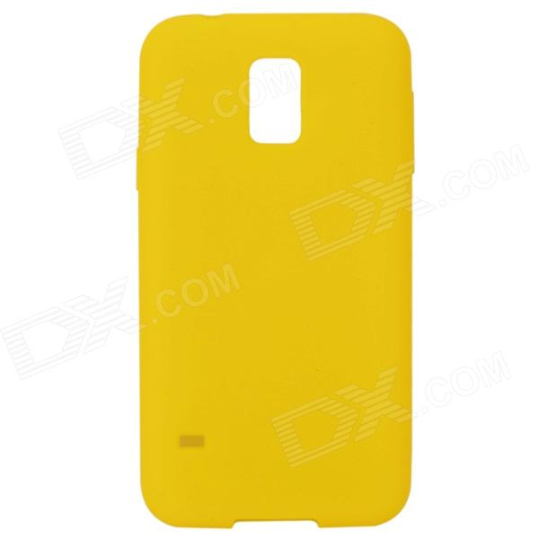 S-What Protective Silicone Back Case for Samsung Galaxy S5 - Yellow