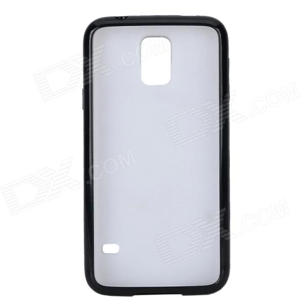 TPU + Plastic Protective Back Case for Samsung Galaxy S5 - Black + Transparent promate akton s5 чехол накладка для samsung galaxy s5 black