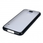 TPU + Plastic Protective Back Case for Samsung Galaxy S5 - Black + Translucent