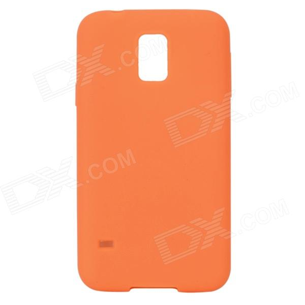 S-What Protective Silicone Back Case for Samsung Galaxy S5 - Orange