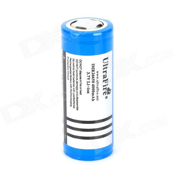 UItraFire 3600mAh Rechargeable Li-ion 26650 Battery w/ Protective IC - Blue + Silver yes yes relayer cd dvd