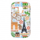 Eiffel Tower + Bicycle Pattern Protective TPU Back Case for Samsung Galaxy Trend Duos S7562 / S7560