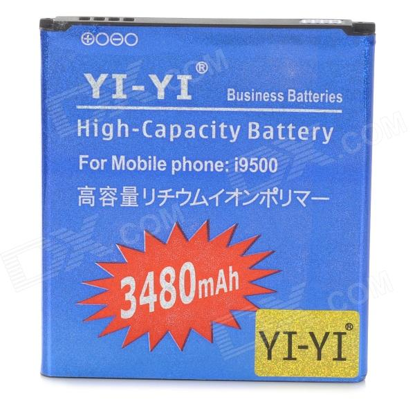YI-YI 2400mAh Li-ion Battery for Samsung Galaxy S4 / i9500 - Blue yi yi high capacity 3 7v 2350mah li ion battery for samsung galaxy s4 mini i9190 orange