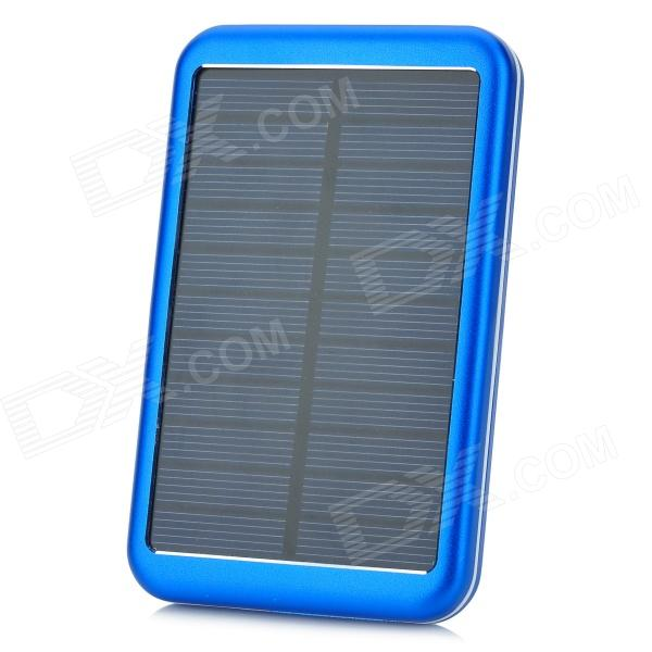 Miniisw SW-8000L 0.7W 8000mAh Li-Polymer Solar Panel Power Bank - Blue (5V)