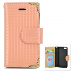 HHCA-136 Multifunction Wallet PU + TPU Case w/ Card Slots for IPHONE 5 / 5S - Pink
