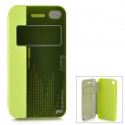 HELLO DEERE Protective PU Case w/ Stand for IPHONE 4G / 4S - Green
