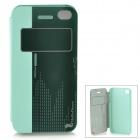 HELLO DEERE Protective PU Case w/ Stand for IPHONE 4G / 4S - Blue