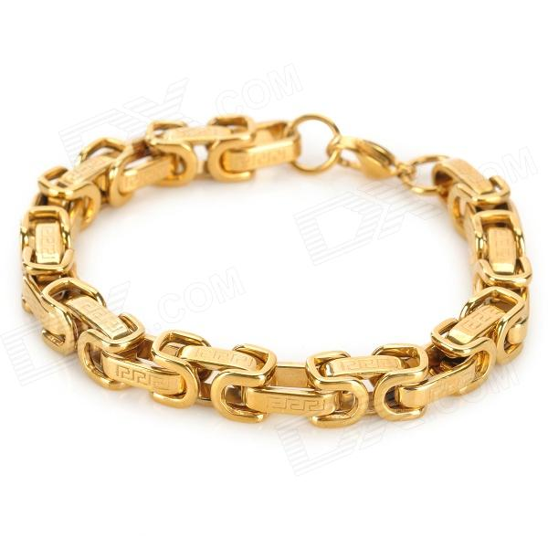 SHIYING SL136 Men's Stylish Chain Style 316L Stainless Steel Bracelet - Golden 316l stainless steel wire soft diameter 1mm length 5 meter