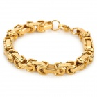 SHIYING SL136 Men's Stylish Chain Style 316L Stainless Steel Bracelet - Golden