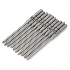 5 x 80 x 3 x 50 x 1 3mm S2 Steel Screwdriver Bit for 801  Electric Screwdriver - Grey (10 PCS)